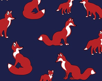 Fox Family - Girl Charlee knit fabric