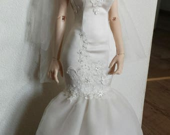 bjd 1/3 iplehouse eid mermaid wedding dress