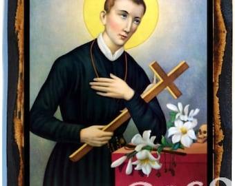 Saint Gerard Majella Roman Catholic Christian Icon on Wood