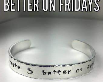 Handmade aluminum cuff bracelet