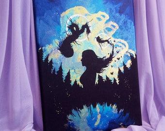 "Original iridescent acrylic painting ""dream II"""