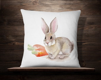 Rabbit Pillow | Bunny Pillow | Bunny Gift | Bunny Throw Pillow | Bunny Decoration | Easter Bunnies | Easter Pillow | Easter Decoration