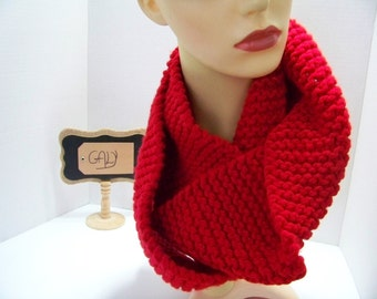 Wholesale scarf twisted, 2 laps (red) #314