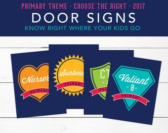 Choose the Right, Class Room Signs, Printables