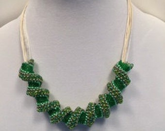 Cellini Spiral Necklace Slide in Greens