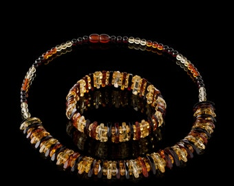 Amber Necklace & Bracelet 100% natural made to order HANDMADE