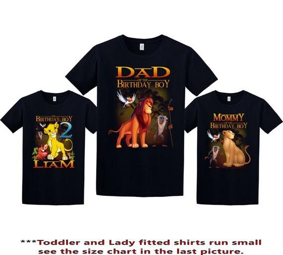 Lion King Birthday Shirt Lion King Custom Shirt Personalized