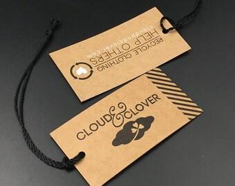500 Custom kraft logo printing hang tag, clothing tags, swing tags, custom hang tags, clothing hang tags, kraft hang tags