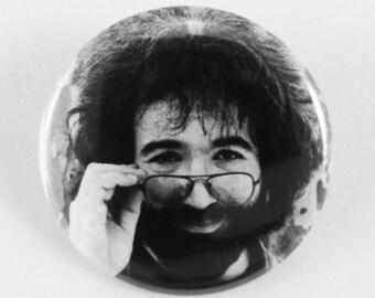 "Jerry Garcia Glasses  - 1.5"" Button"