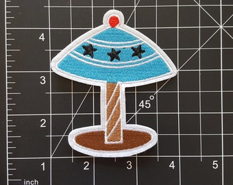 Cute Paradise Beach Parasol Iron On Patch Free Shipping !