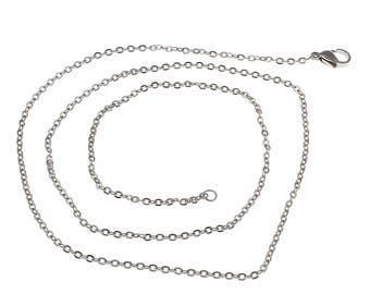 2/4/6pcs Stainless Steel Cable Link necklace