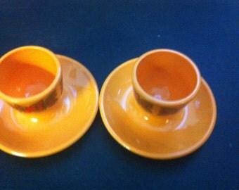 VINTAGE 1960s  2 PLASTIC EGG Cups