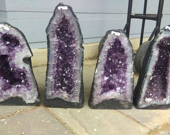 Pick and Choose! 33lb Amethyst Geode Cathedral: nice crystal specimens