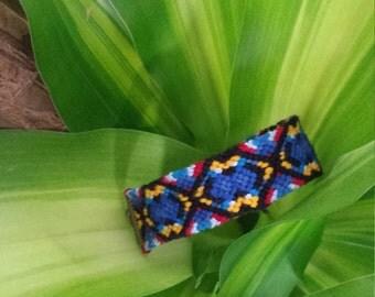 Blue knotted festival Friendship Bracelet boho