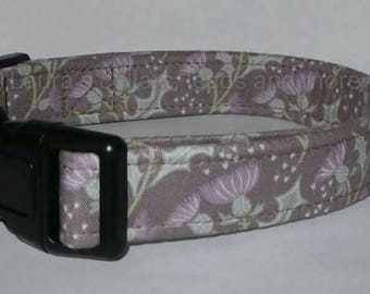 25mm Handmade thistle fabric dog collar , dog collar , adjustable , small , medium , large , scottish , scotland, thistle