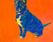 HER PURPOSE ~ PHOEBE print giclee dog contemporary art mutt rescue fun colorful affordable baby kids nursery girlpower tween teen belonging