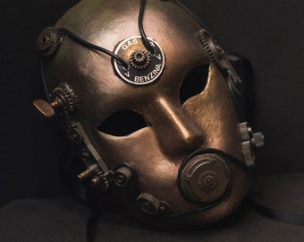 Steampunk mask gasoline