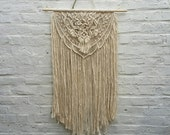 large Macrame Wall Hanging handmade wall hangingaztec inspired art talisman cotton macrame cord