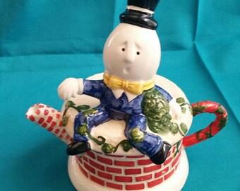 Humpty Dumpty Teapot/Designpac Humpty Dumpty Teapot/Nursery Rhyme Character Teapot/Vintage Teapot/Vintage Humpty Dumpty Tea Pot/Teapot