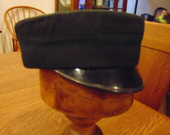 Vintage Black Titanic Steam Boat Hat from Uniforms by Ostwald (free shipping)