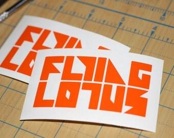 Flying Lotus Vinyl Sticker   Brainfeeder Sticker   FLYLO Decal