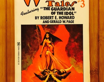 Weird Tales # 3 (1977, Paperback) Featuring the Guardian of the Idol, Various Authors, Vintage