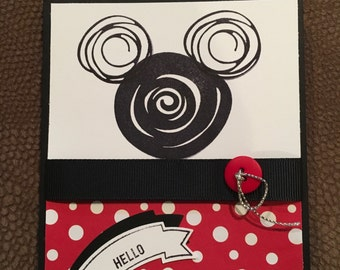 Disney inspired note card