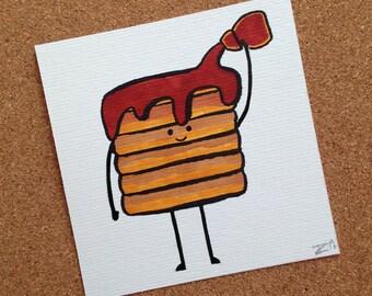 Pancake Shower Sketch Card
