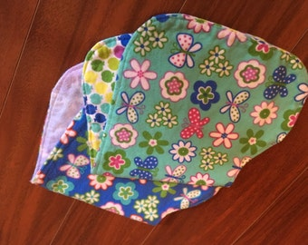 Contoured 2 Layer Burp Cloth/Burp Rag