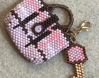 Mini Purse Tote Bag Charm Key Chain Pendant