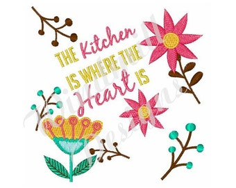kitchen embroidery designs. Kitchen Where Heart Is  Machine Embroidery Design embroidery Etsy