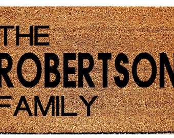 Custom Door mat, Doormat, wedding gift, housewarming gift, customizable gift, Custom Gift