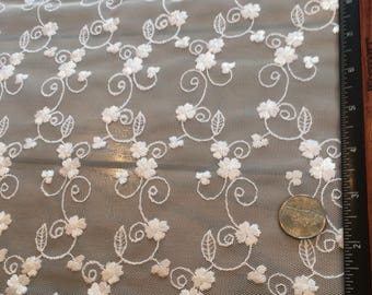 Schiffli Embroidered Lace Fabric