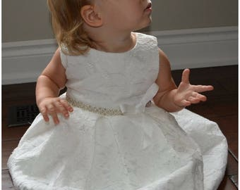 Baptism dress, baptism gown, baptism outfit, christening dress, christening gown, christening dress, white lace dress, baby girl dress