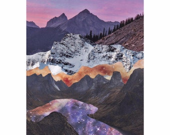 "Print of original collage ""Landscape in Lavender"""