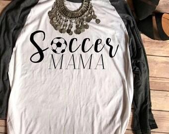 ENDS AT 12AM Soccer Mama Baseball Tee, Soccer Mom Shirt, Soccer Mom Shirts, Little League, Soccer Mom Tee, T shirts, Football Mom T-Shirts,