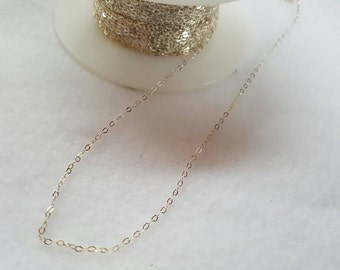 Sterling Silver 1.32mm X 1.92mm Flattened Light Cable Chain