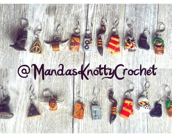 Harry Potter Inspired 10 Piece Stitch Marker Set