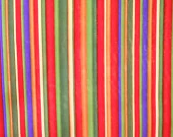 Candy Bright Stripes Fabric -- Vibrant Pinstripe Colors