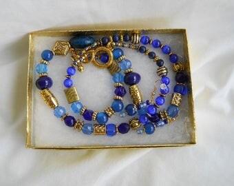 Handmade 3 Piece Set...Necklace...Bracelet ...Earrings