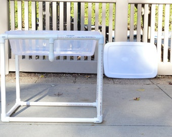 Collapsible Kid's Activity Table, Water Table, Sensory Table, Indoor/Outdoor, Customizable, kids birthday gift