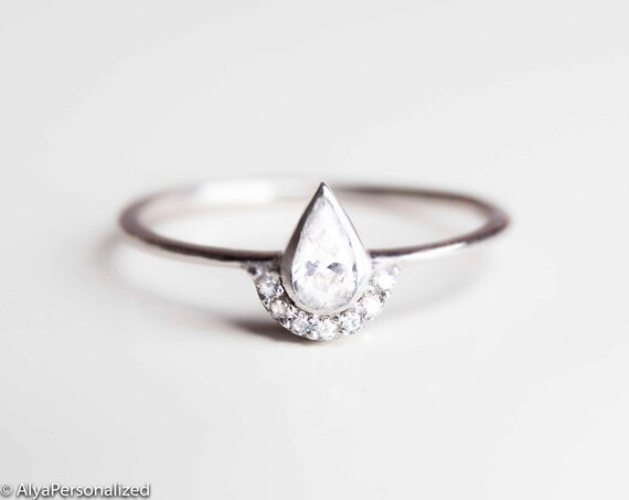 alternative engagement ring minimalist engagement ring