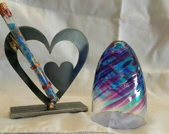 Wedding Glass Kit,Double Heart break the glass kit  - color shown is Blue & Purple