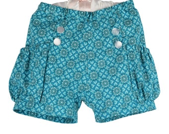 Girls shorts - Floral blue