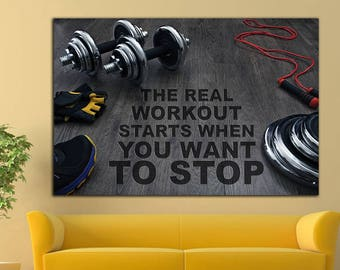 Gym Motivation Workout Motivation Print Crossfit Motivation Gym Decor Gym Wall Decor Gym Wall Art Gym Art Home Gym Canvas Gym Print