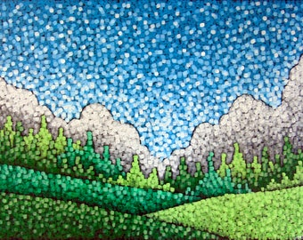 Fields of Spring, original acrylic painting on canvas by Aaron Kloss