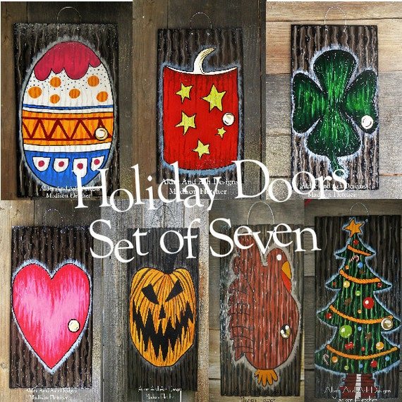 Christmas Decorations Sliding Glass Doors : Nightmare before christmas inspired holiday doors set of