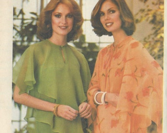 1970s Vintage Sewing Pattern B34-to-36 BLOUSE (1011) Butterick 5341