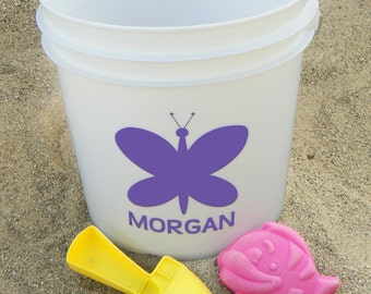 Bucket decals, outdoor vinyl decal, customized decals, personalized bucket, custom decals, name vinyl decals, customize bucket, kid buckets
