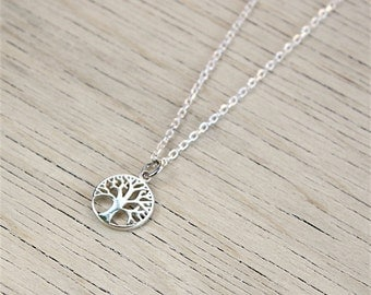 Necklace tree of life in sterling silver on a chain